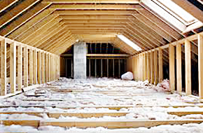 Photo of attic insulation